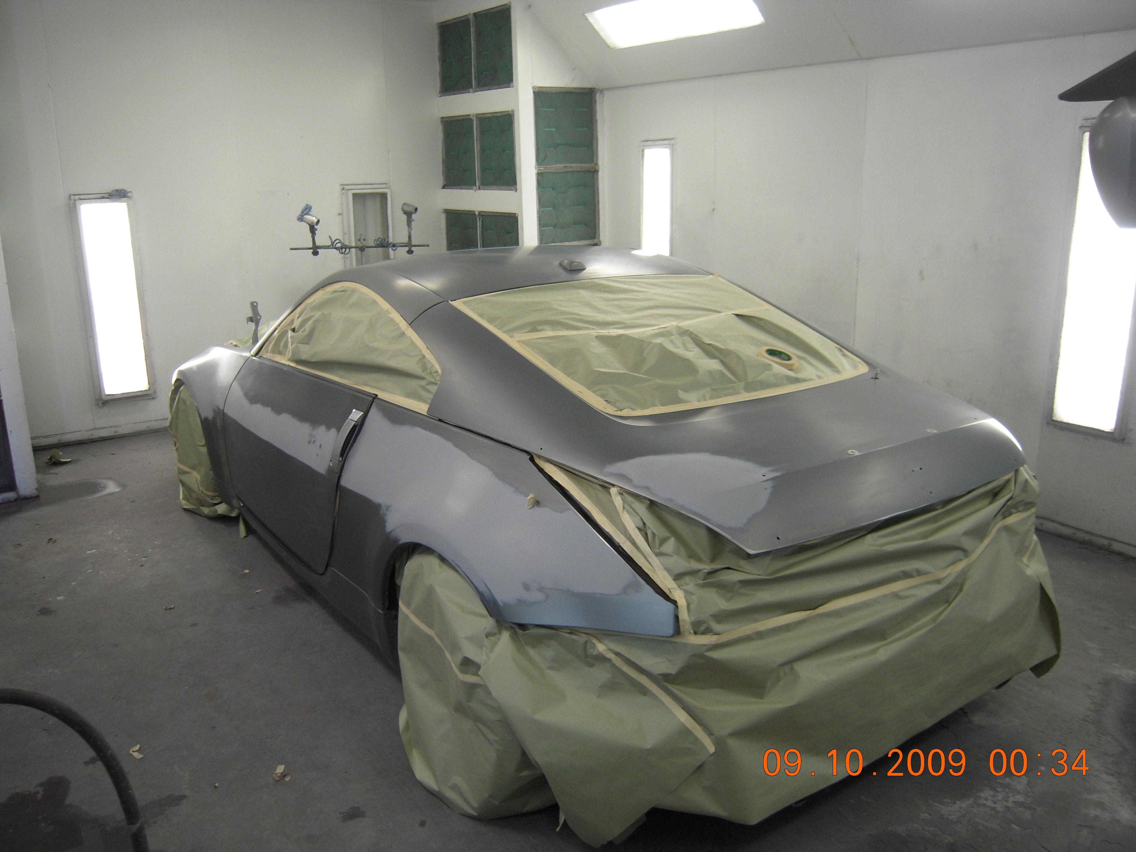 West Coast Body And Paint Flat Black Nissan 350z 6 Van