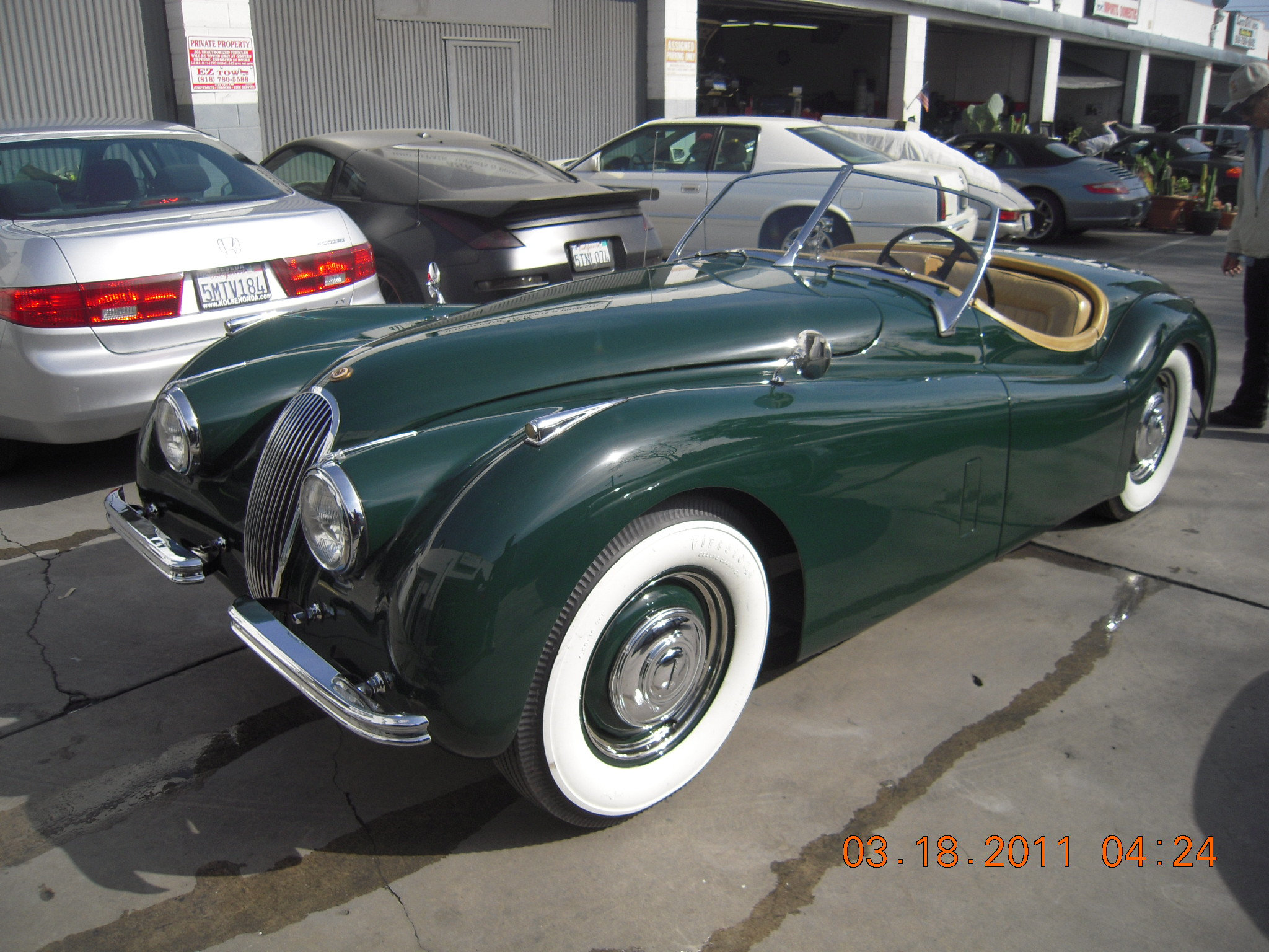 West coast body and paint green jaguar xk120 43 west for Car paint shop