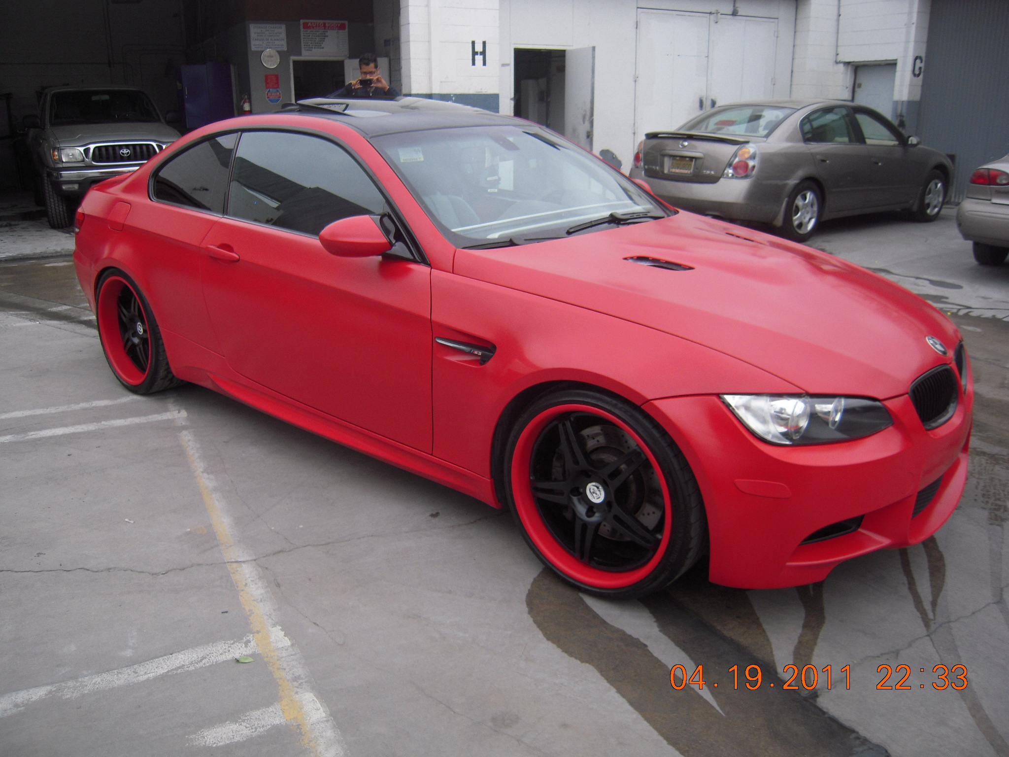 West Coast Body And Paint Red 2008 Bmw M3 Matte 16 West Coast Body And Paint Van Nuys Ca Collision Repair Auto Body Repair Paint Shop