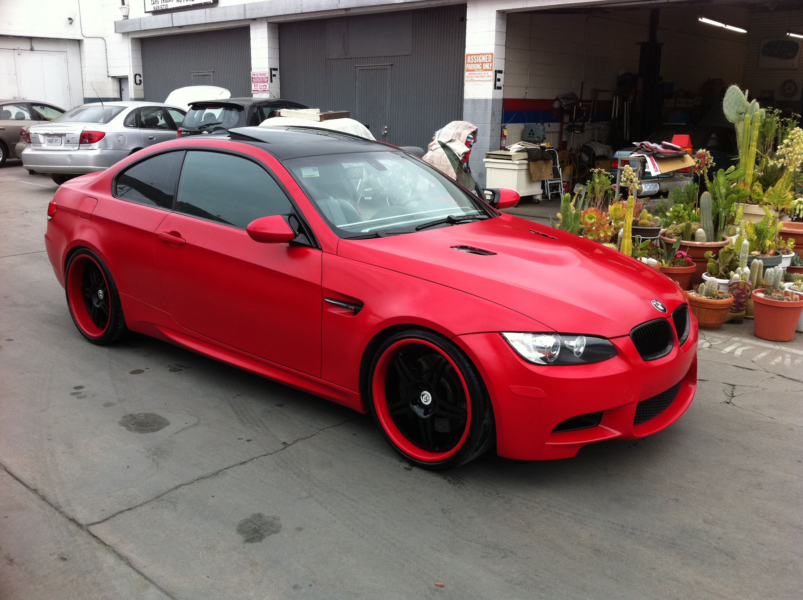 West Coast Body And Paint Red 2008 Bmw M3 Matte 25
