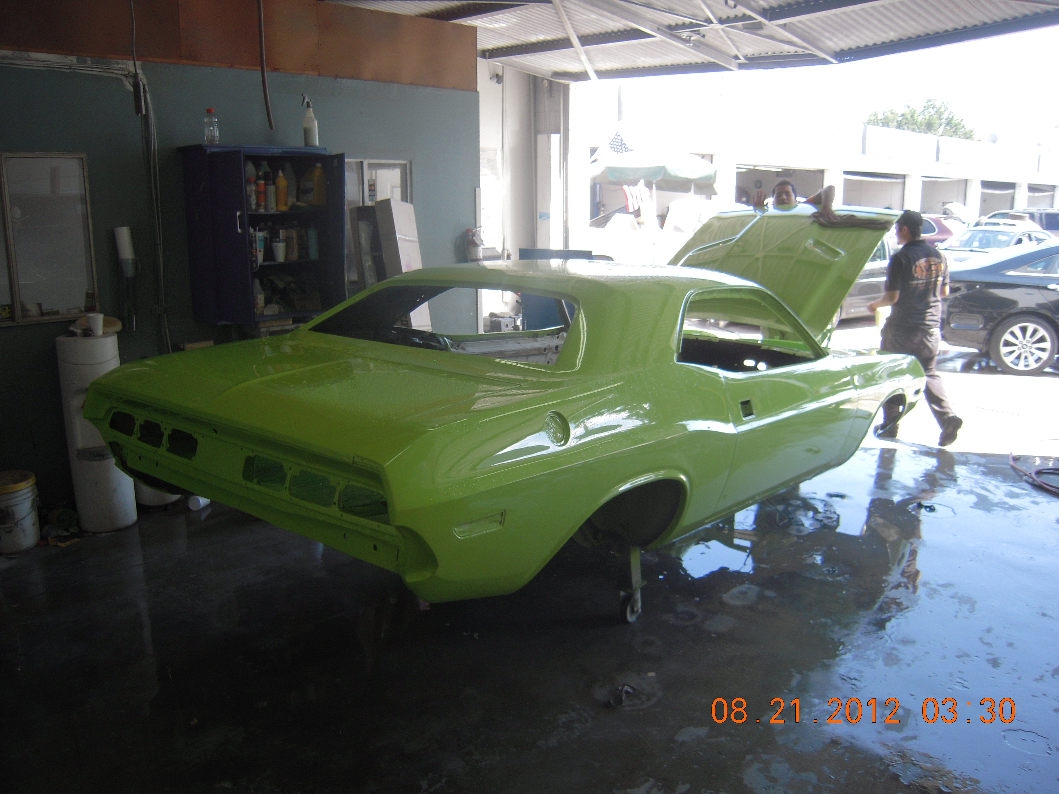 west coast body and paint sublime green 1971 dodge challenger 29